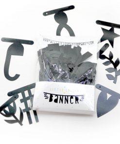 Letter Banner/Buchstaben-Girlande schwarz, a little lovely company