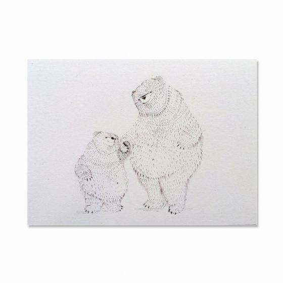 Karte kleiner und großer Bär, Bär von Pappe