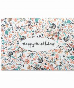Karte Geburtstag/Happy Birthday, Bär von Pappe