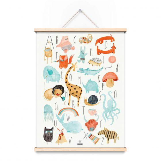 Poster ABC, Bär von Pappe