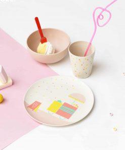 Bambus-Geschirrset Ice Cream/Eiscreme, Engel Punt