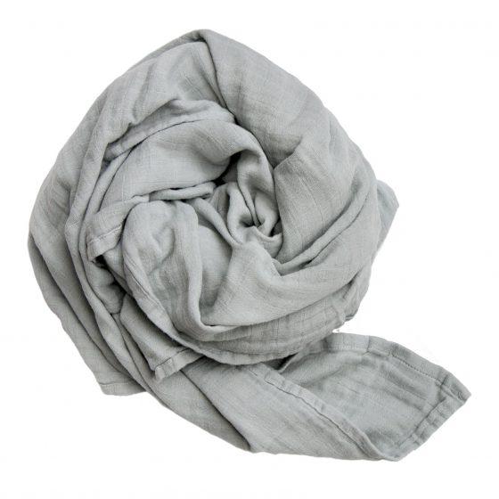 Mulltuch/Swaddle Foggy Grey, Fabelab
