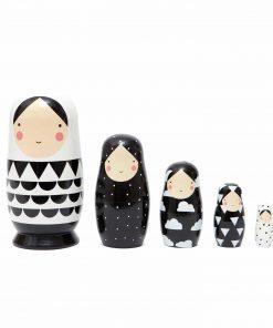 Matrjoschka/Nesting Dolls schwarz/weiß, Psikhouvanjou/Petit Monkey