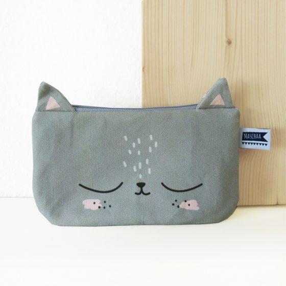 Mäppchen Täschchen Katze grau, Hello Hemmi