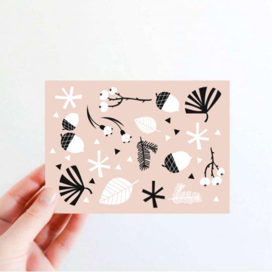 Karte Winter rosa, Hello Hemmi