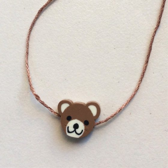 Wunscharmband für Kinder brauner Bär, Mara