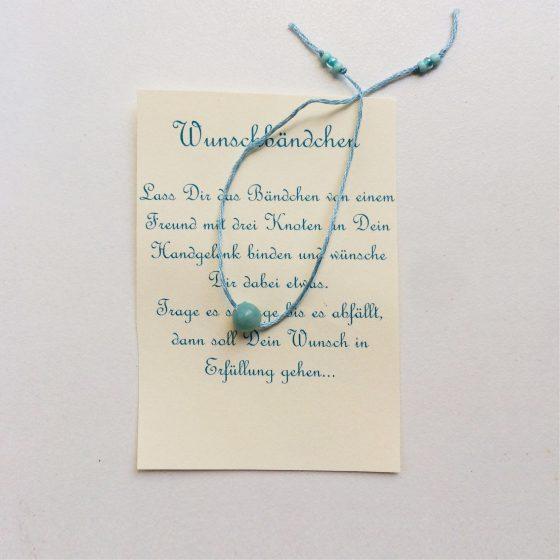 Wunscharmband für Kinder Türkis, Mara
