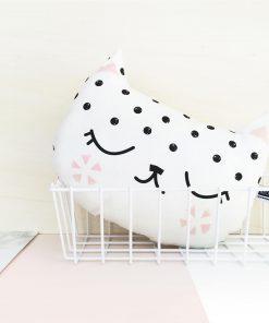 Kissen Katze Weiß, Hello Hemmi