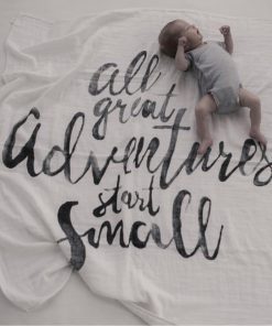 Swaddle/Mulltuch/Decke all great adventures start small, Mies&Co