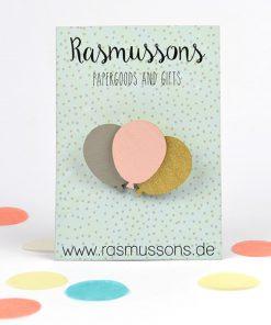 Holz Brosche Luftballons, Rasmussons