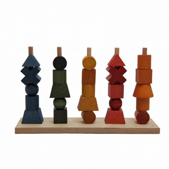 Steckspiel bunt Regenbogen, Wooden Story