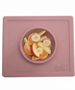 Silikon Teller/Schüssel, haftet auf dem Tisch, Happy Bowl blush/rosa, ezpz