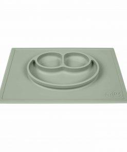 Silikon Teller, haftet auf dem Tisch, Happy Mat sage/salbei/pastell-grün, ezpz