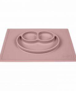 Silikon Teller, haftet auf dem Tisch, Happy Mat blush/rosa, ezpz