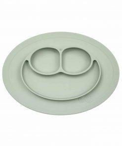 Silikon Teller, haftet auf dem Tisch, Mini Mat sage/salbei/pastell-grün, ezpz