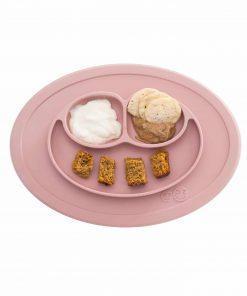 Silikon Teller, haftet auf dem Tisch, Mini Mat blush/rosa, ezpz