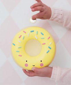 Spardose Sparbüchse Donut/Doughnut gelb, a little lovely company
