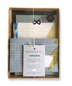 Briefpapier Set Junge Superheld, life is delicious