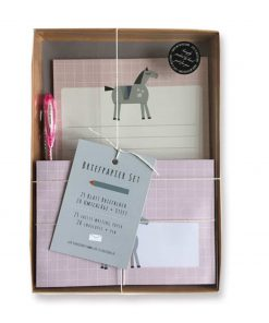 Briefpapier Set Mädchen Pferd, life is delicious