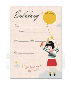 Einladungskarten Set Geburtstag/Kindergeburtstag Mädchen, life is delicious