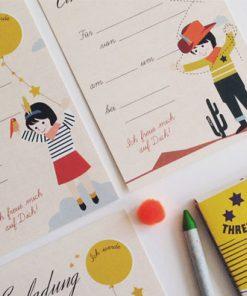 Einladungskarten Set Geburtstag/Kindergeburtstag, life is delicious