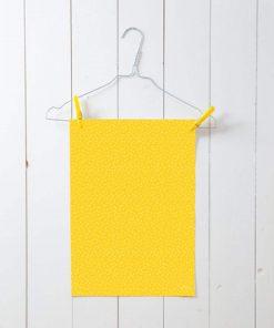 Geschenkpapier Dreiecke Senf-Gelb, life is delicious