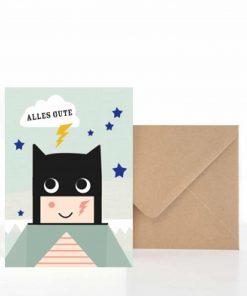 Grußkarte Geburtstag Alles Gute Superheld, life is delicious