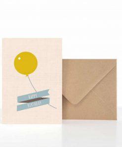 Grußkarte Geburtstag Happy Birthday Luftballon, life is delicious