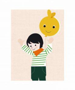 Grußkarte Luftballon, life is delicious