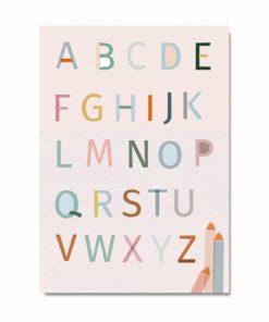 Postkarte ABC, life is delicious