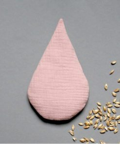 Dinkelkissen Körnerkissen Wärmekissen Tropfen rosa, Lomaja