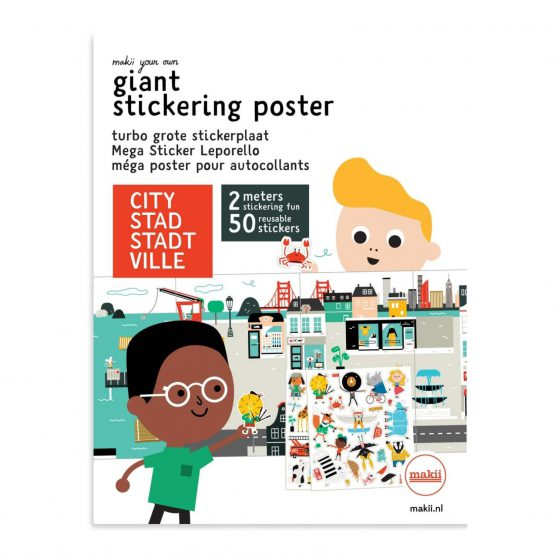 Stickerbuch/Stickerposter Stadt, Makii