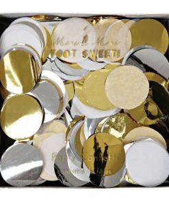 Konfetti Metallic Silber Gold, Meri Meri