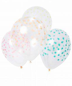 Luftballons Sterne Neon 4 Farben im Set, Meri Meri