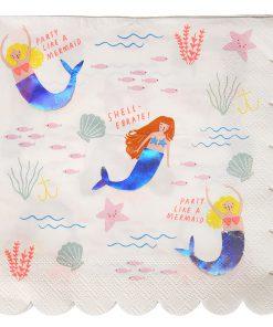 Serviette Mermaid Meerjungfrau, Meri Meri