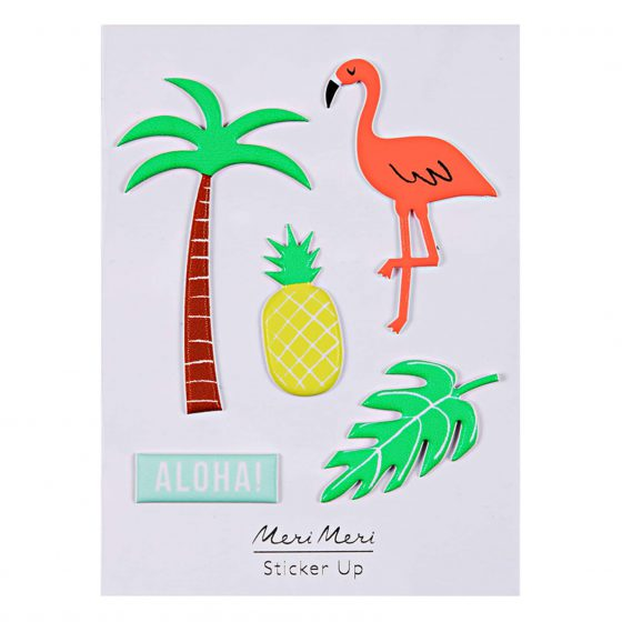 Sticker Tropical Flamingo, Palme, Ananas, Aloha, Meri Meri