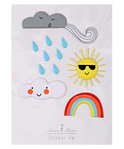 Sticker Wetter Wolke, Sonne, Regenbogen, Meri Meri