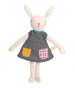 Stofftier Hase Mädchen Camomille 23 cm, La Familie Mirabelle, Moulin Roty