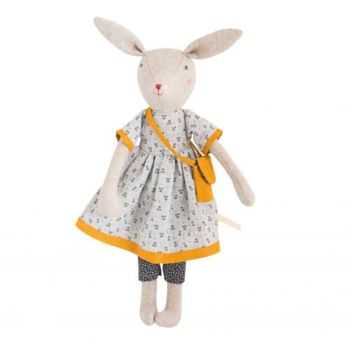 Stofftier Maus Maman Rose 40 cm, La Familie Mirabelle, Moulin Roty