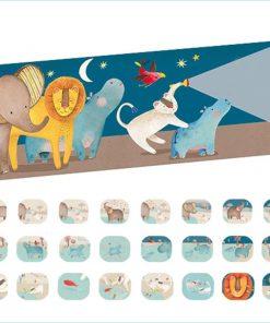 Geschichtenlampe Kinder-Taschenlampe Bilder, Gute-Nacht-Geschichten Zoo, Moulin Roty