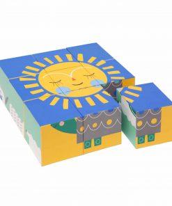 Spiel Block Puzzle/Holzwürfel, Psikhouvanjou/Petit Monkey