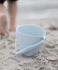 Flexibler Sandeimer aus Silikon pastell-blau, Scrunch Bucket