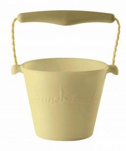 Flexibler Sandeimer aus Silikon pastell-gelb, Scrunch Bucket