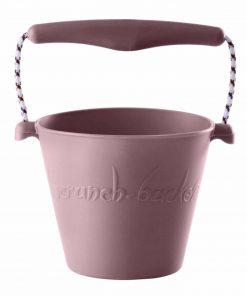 Flexibler Sandeimer aus Silikon pastell-rosa, Scrunch Bucket