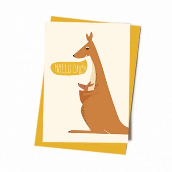 Grußkarte Geburt Hallo Baby Gelb, Vierundfünfzig Illustration