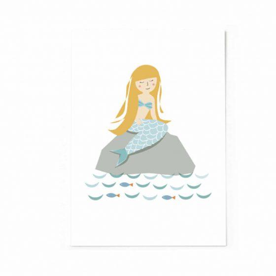 Postkarte Meerjungfrau, Vierundfünfzig Illustration