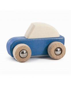 Spielzeugauto/Holzauto zum Aufziehen Blau, Bajo