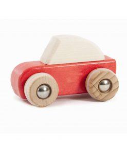 Spielzeugauto/Holzauto zum Aufziehen Rot, Bajo