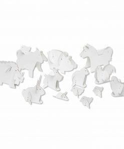 Papp Spielzeug Bauerhof-Tiere zum Anmalen, Bibabox