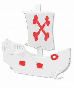 Papp Spielzeug Piraten-Schiff zum Anmalen, Bibabox